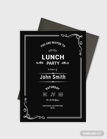 Sample Chalkboard Rehearsal Lunch Invitation Template