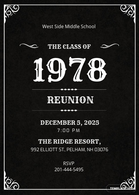 Classic Reunion Invitation Template.jpe