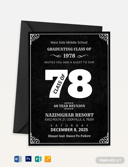 Classic Reunion Invitation Template