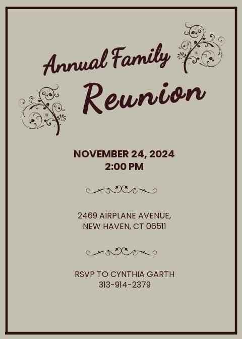 Family Reunion Invitation Template.jpe