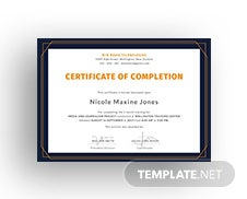 certificate for project completion