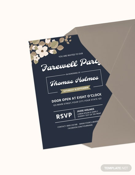 Farewell Party Invitation Card Template Download