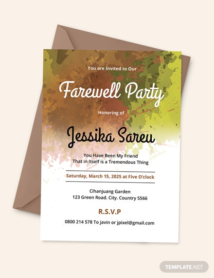 Farewell Party Invitation Template Download