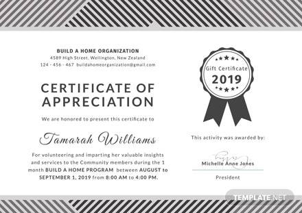 free volunteer appreciation certificate template download 200