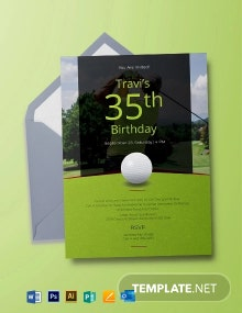 Golf Party Invitation Template