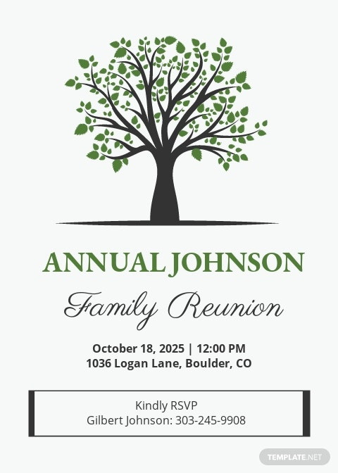 Old Family Printable Family Reunion Invitation Template