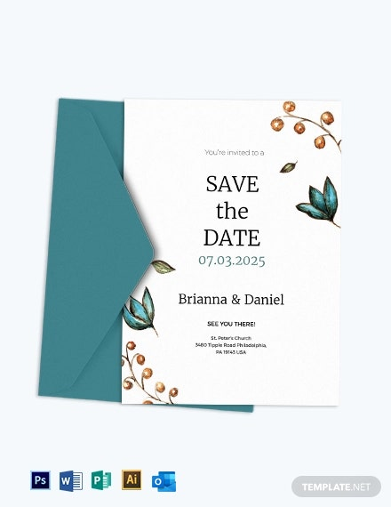 Simple Wedding Invitation Template