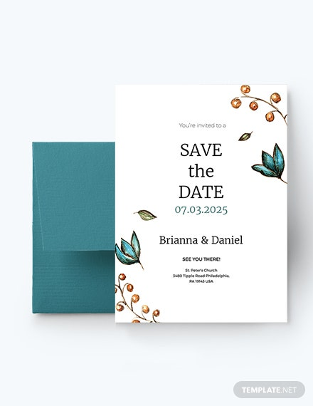 Simple Wedding Invitation Template Download