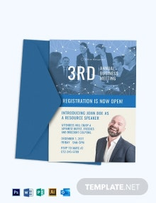 Annual Business Meeting Invitation Template