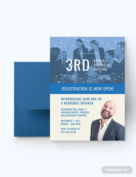 Annual Business Meeting Invitation Template Download