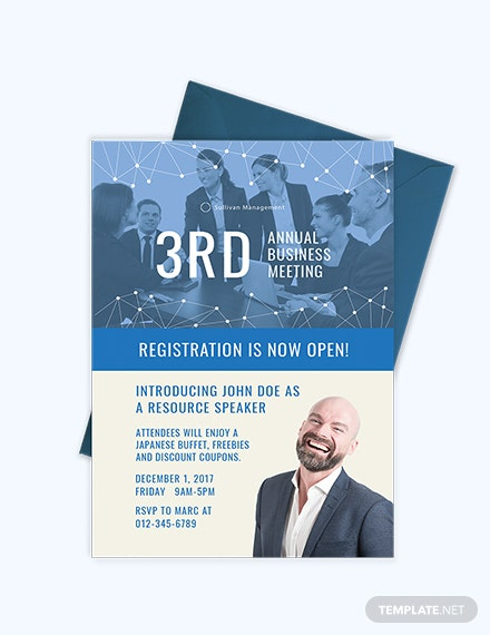 Sample Annual Business Meeting Invitation Template