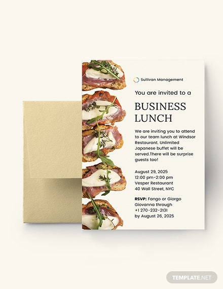 Business Lunch Invitation Template Download