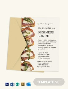 Business Lunch Invitation Template