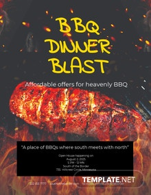 Free Dinner BBQ Flyer Template