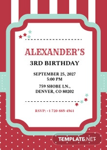 Carnival Birthday Invitation Template