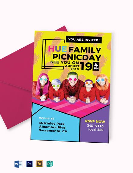 Family Picnic Invitation Template