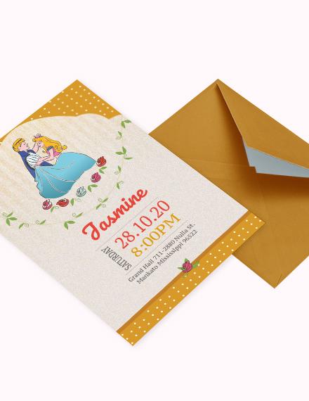 Little Princess Birthday Invitation Template Download