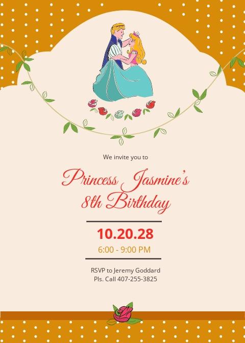 Little Princess Birthday Invitation Template