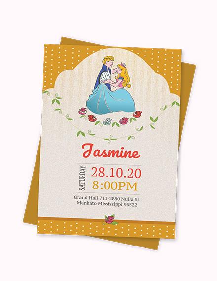 Sample Little Princess Birthday Invitation Template