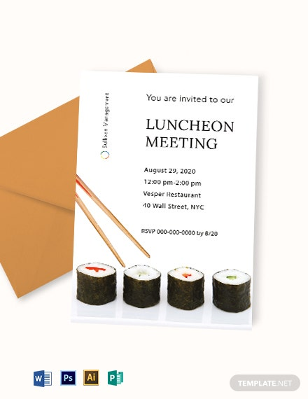 Luncheon Meeting Invitation Template
