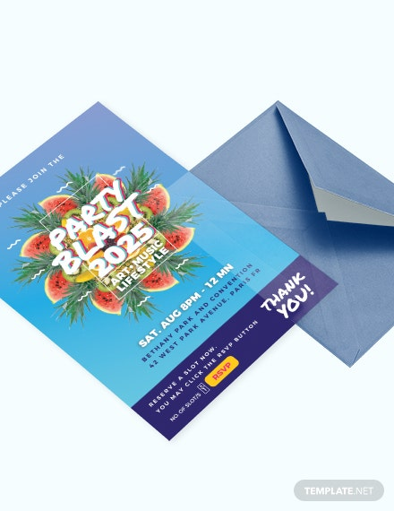 Party Blast Invitation Template Download