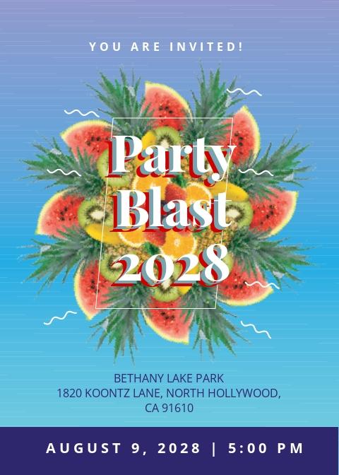 Party Blast Invitation Template