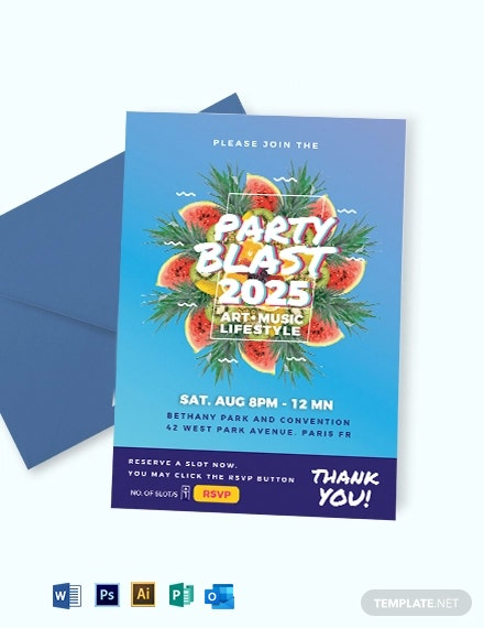 Party Blast Invitation Template