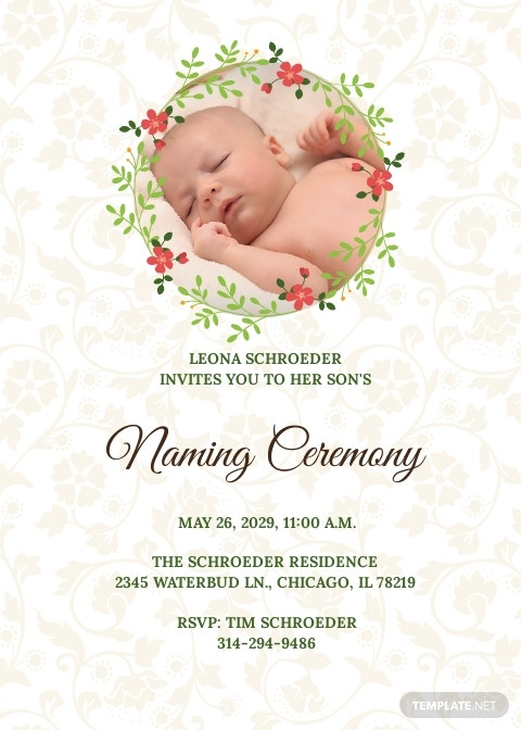 Creative Naming Invitation Template
