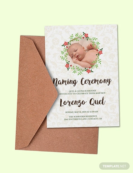 Free Creative Naming Invitation Template