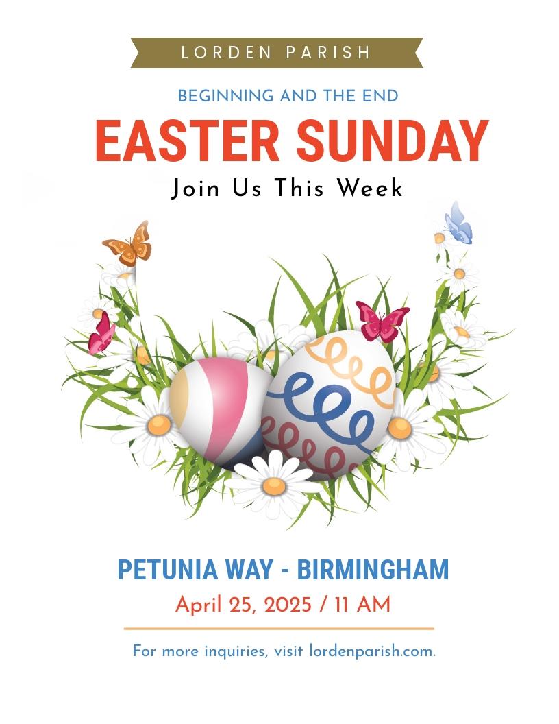 Easter Egg Sunday flyer Template.jpe