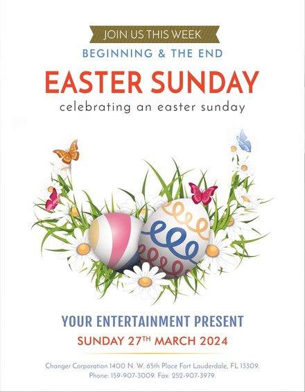 Free Easter Egg Sunday flyer Template