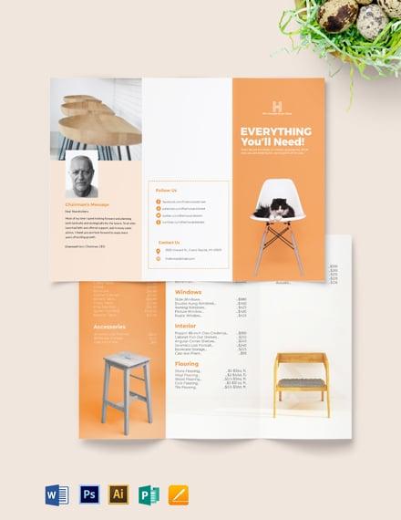 Business Price List Brochure Template