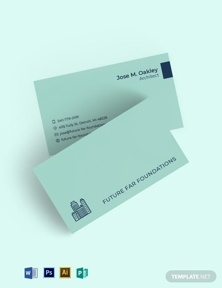 Building Contractor Business Card Template