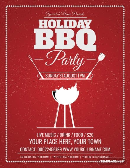 Free Summer Bbq Flyer Template In Adobe Photoshop Illustrator