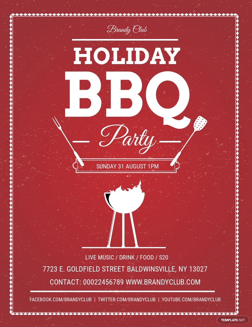 Free Holiday BBQ Flyer Template.jpe