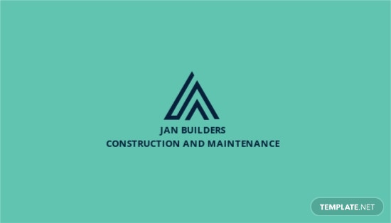 Construction and Maintenance Business Card Template.jpe