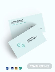 Construction Materials Business Card Template