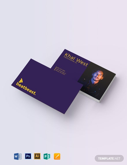 DJ Business Card with Photo Template