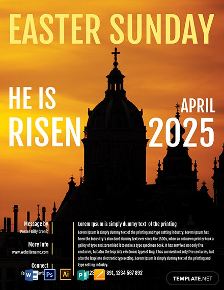 Free Easter Church Flyer Template