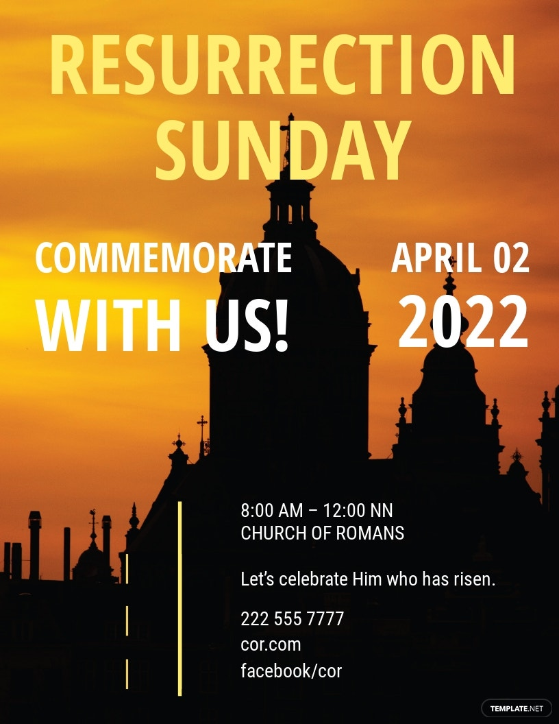 Free Easter Church Flyer Template.jpe
