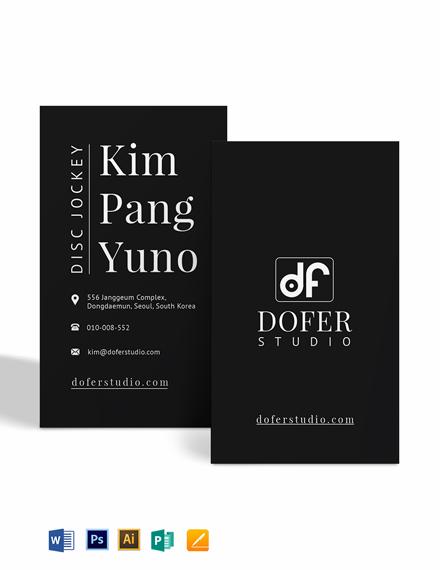 Flat Dj Business Card