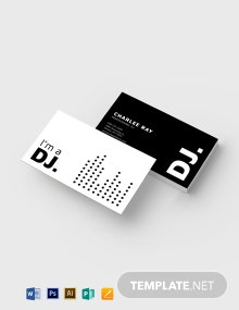 Modern Black and White DJ Business Card Template