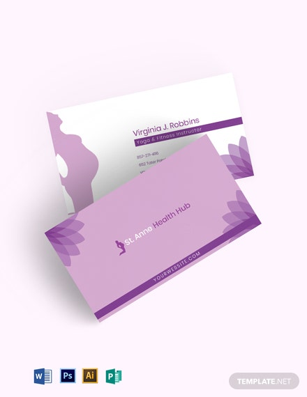 Pregnancy Yoga Business Card Template