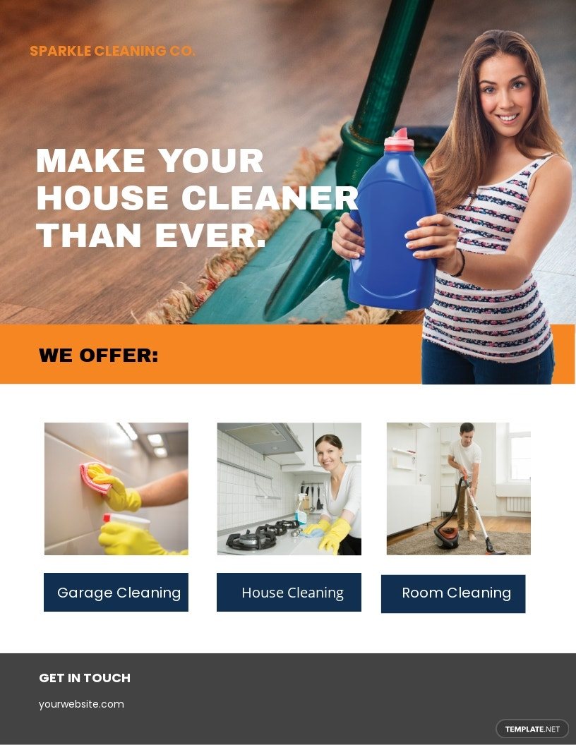 Cleaning Company Flyer Template.jpe