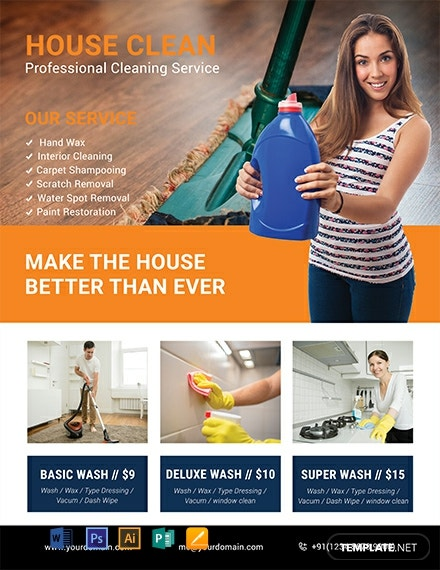 Free Cleaning Company Flyer Template
