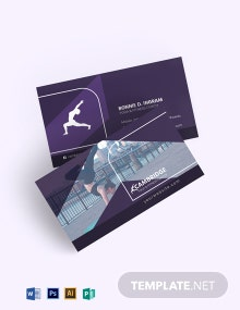 Yoga and Fitness Business Card Template