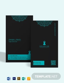 Yoga and Meditation Business Card Template