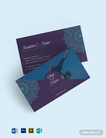 Yoga & Pilates Business Card Template