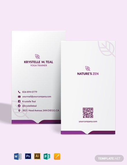Yoga Trainer Business Card Template