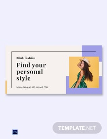 Free Fashion Brands App Promotion Blog Image Template